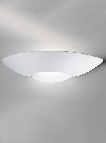 Franklite WB252 Ceramic - can be painted Wall Light (Class 2 Double Insulated)